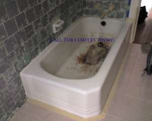 Bathtub Before Refinishing